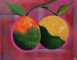 """Citrus Greening,"" acrylic on canvas."